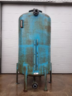 Steel tank with ebonite coating and sand filter