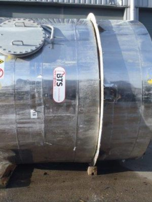 Used neutraliser tank stainless steel 316, insulated + heating coil in tank, agitator 5,5kW/56RPM+ baffles