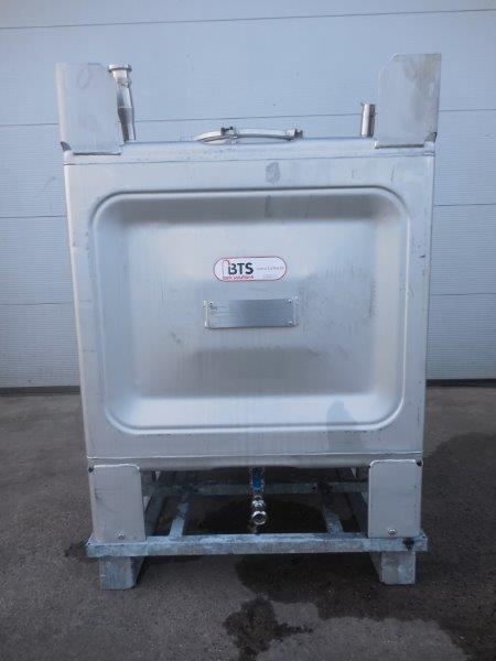 Transport container IBC, SS 304, brand : TEKA, Service pression : 0,2bar
