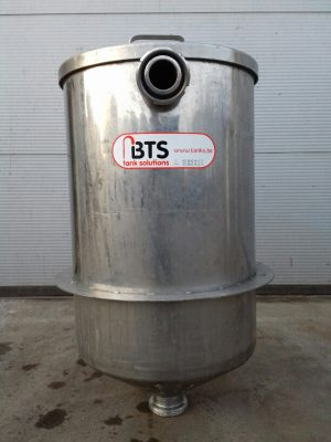Used tank wih supporting ring ss304, conical bottom