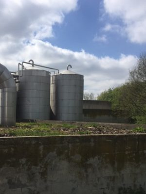 Insulated Stainless steel  tank 125m³ flat bottom with slope