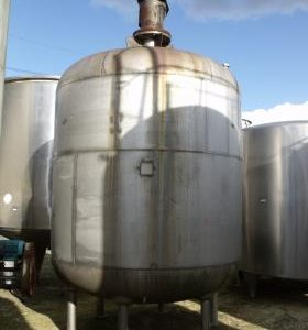 11,800 Litre, Stainless Steel, Vertical Base Tank
