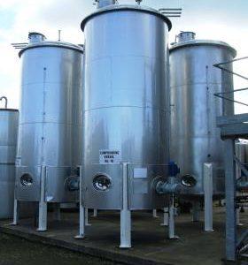 12,500 Litre, Mild Steel, Vertical Base Tank