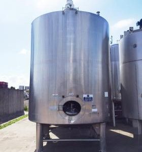 21,000 Litre, Stainless Steel, Vertical Base Tank