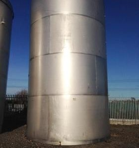 96,000 Litre, Stainless Steel, Vertical Base Tank