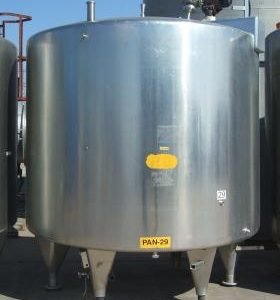 10,000 Litre, Stainless Steel, Vertical Base Tank