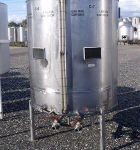 1,000 Litre, Stainless Steel, Vertical Base Tank