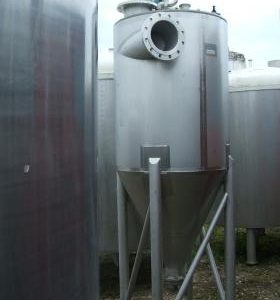 1,500 Litre, Stainless Steel, Vertical Base Tank