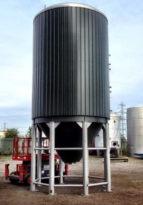 54,000 Litre, Stainless Steel, Vertical Base Tank