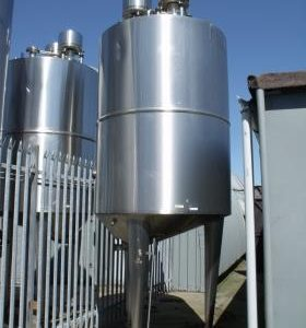 5,000 Litre, Stainless Steel, Vertical Base Tank