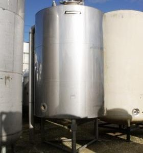 8,200 Litre, Stainless Steel, Vertical Base Tank