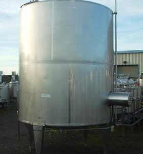 11,000 Litre, Stainless Steel, Vertical Base Tank