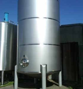 30,000 Litre, Stainless Steel, Vertical Base Tank