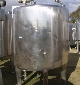 2,000 Litre, Stainless Steel, Vertical Base Tank
